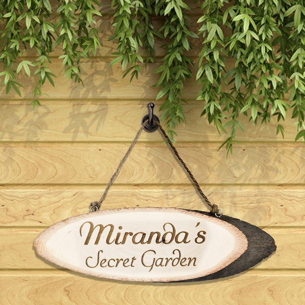 Secret Personalised Garden Wooden Sign