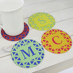 Set of Four Personalised Glass Coasters - Vibrant Design -  - 2