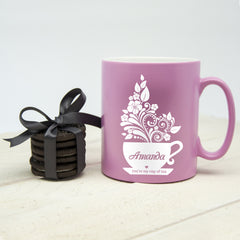 Silhouette 'You're My Cup Of Tea' Personalised Mug - Luxe Gift Store - 2