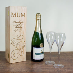 Mother's Day Wine Box With Swirls - Luxe Gift Store