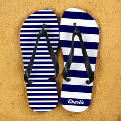 Striped Personalised Flip Flops - Luxe Gift Store - 2