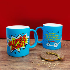 Dad's 'Superdad' Matte Coloured Mug - Luxe Gift Store