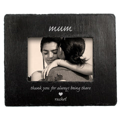 Mum's 'Thank You Mum' Personalised Slate Photo frame - Luxe Gift Store