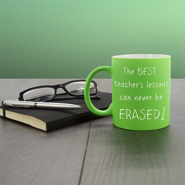 Teacher's 'The Best Teacher's Lessons Can Never Be Erased!' Personalised Mug - Multicoloured