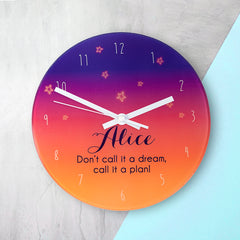 The Desert At Dusk Personalised Wall Clock - Luxe Gift Store