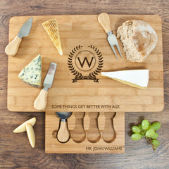 'The Importance of Age' Personalised Large Bamboo Cheese Board - Luxe Gift Store