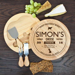 Traditional Brand Personalised Cheese Board Set -