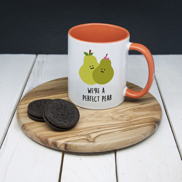 'We're A Perfect Pear' Romantic Mug (Non-Personalised)