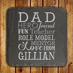 Dad's 'What Dad Means To You' Personalised Slate Keepsake - Luxe Gift Store