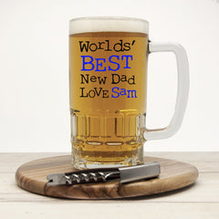 Dad's 'World's Best New Dad' Personalised Tankard - Luxe Gift Store