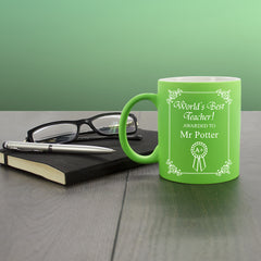 Teacher's 'World's Best Teacher Award' Multicoloured Mug - Luxe Gift Store - 3