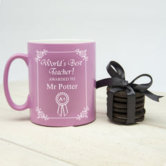 Teacher's 'World's Best Teacher Award' Multicoloured Mug - Luxe Gift Store - 5