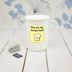 'You Are My Butter Half' Bone China Mug (Non-Personalised) - Luxe Gift Store