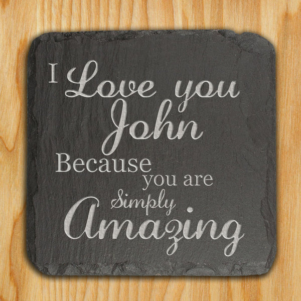 Slate Personalised Keepsake 'You are Simply Amazing'