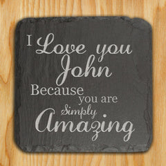 Slate Personalised Keepsake 'You are Simply Amazing' -