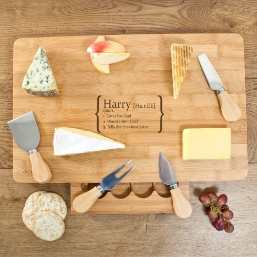 Your Definition Personalised Large Bamboo Cheese Board