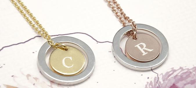 Romantic Personalised 'You Are My World' Necklace - Rose Gold & Silver or Gold & Silver