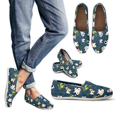 Cow Pattern Casual Shoes (Dark Teal)