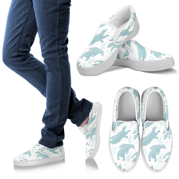 Polar Bear Slip Ons Pattern Shoes