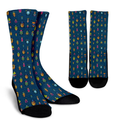 Bugs and Crawlies Pattern Socks
