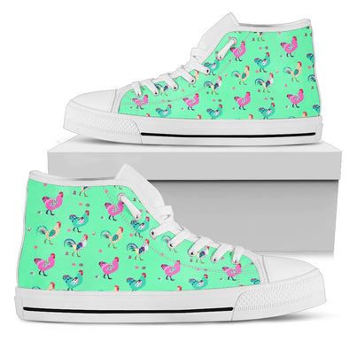 Funky Chicken Pattern High Tops (Light Green)