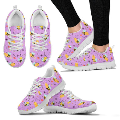 Bee Pattern Sneakers (Violet)