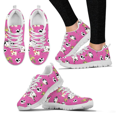 Cow Pattern Sneakers (Pink)