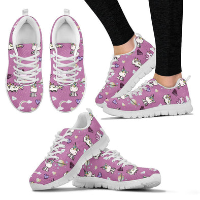 Unicorn Pattern Sneakers (Pink)