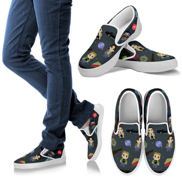 Supernatural Shapes and Things Slip Ons Pattern Shoes