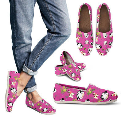 Cow Pattern Casual Shoes (Pink)