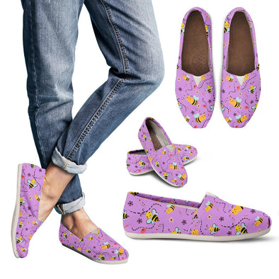 Bee Pattern Casual Shoes (Violet)