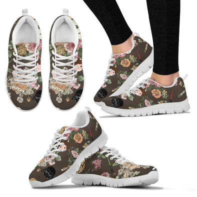Galaxy and Flowers Sneakers