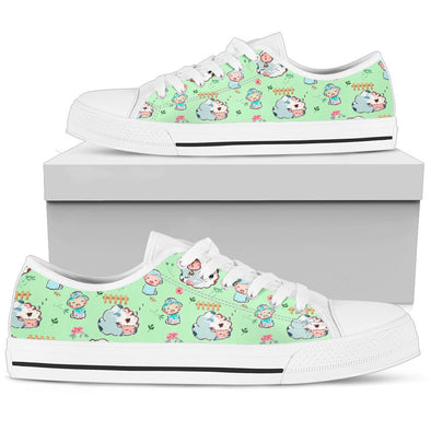 Sheep Low-Top Pattern Shoes (Green)