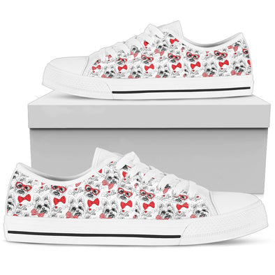 Happy Yorkie Low-Top Pattern Shoes