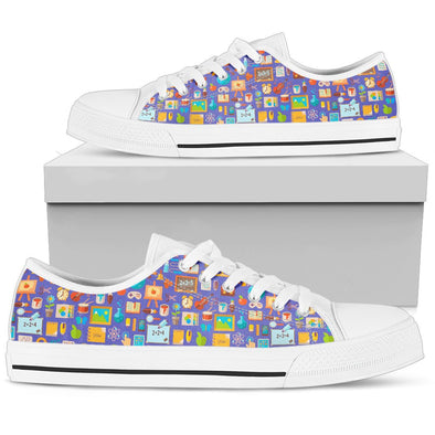 Teacher Pattern Low-Top Shoes