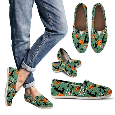 Basketball Pattern Casual Shoes (Green)
