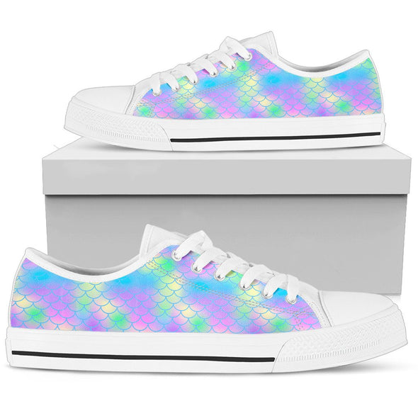 Mermaid Pattern Low-Top Shoes