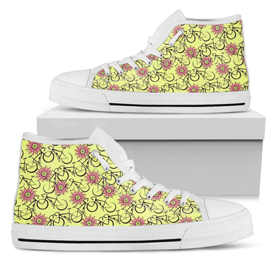 Bicycle Hi-Top Pattern Shoes (Yellow)
