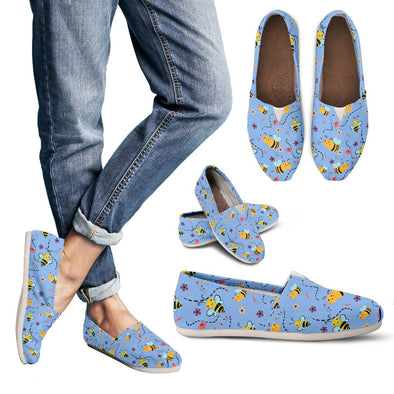 Bee Pattern Casual Shoes (Blue)
