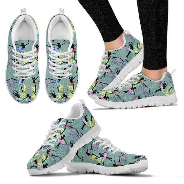 Ballerina Pattern Sneakers (Green)