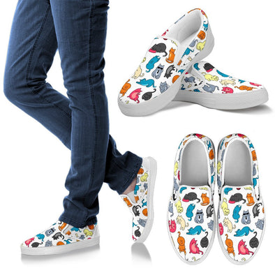 Cats Pattern Slip Ons Shoes