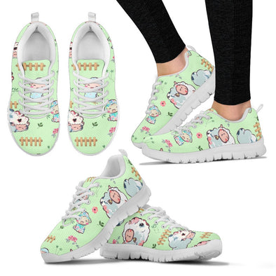 Sheep Pattern Sneakers (Green)
