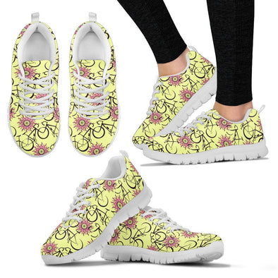 Bicycle Pattern Sneakers (Yellow)
