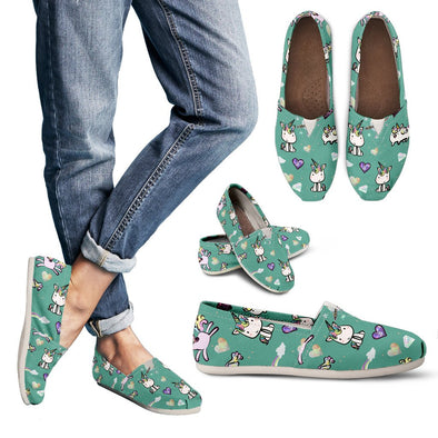Unicorn Pattern Casual Shoes (Teal)