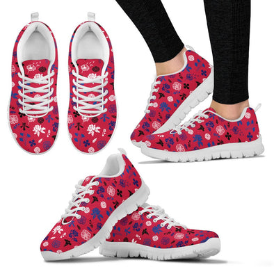 Buffalo Floral Pattern Sneakers