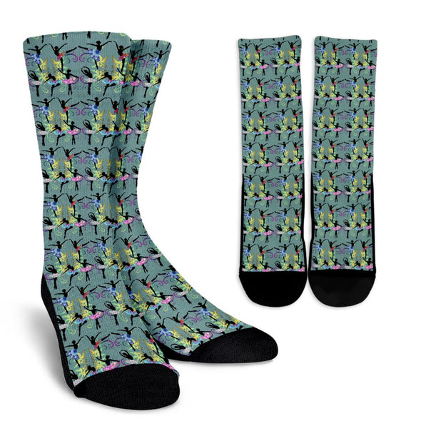 Ballerina Pattern Socks (Green)