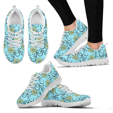 Bicycle Pattern Sneakers (Blue)