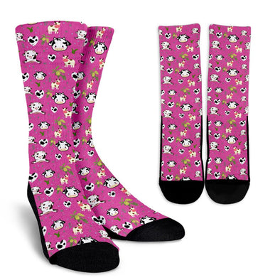 Cow Pattern Socks (Pink)