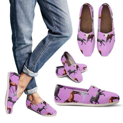 Horse Pattern Pink Casual Shoes