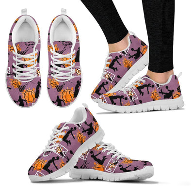 Basketball Pattern Sneakers (Violet)